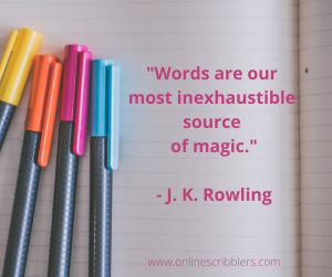 quotation about the magic of words
